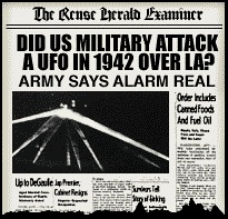 The report that 1,430 Anti-Aircraft rounds were fired at unidentified objects over Los Angeles, California, early the morning of February 25, 1942 ...